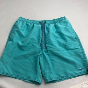 Vineyard Vines Swim - Vineyard Vines lined aqua swim trunks